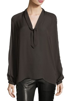 Haute Hippie Phoenix Rise Button-Front Silk Top