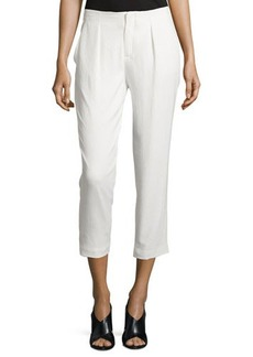 Haute Hippie Pleated-Front Cropped Pants