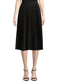 Haute Hippie Pleated Midi Skirt