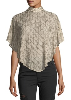 Haute Hippie Quest Self-Tie Asymmetric Capelet
