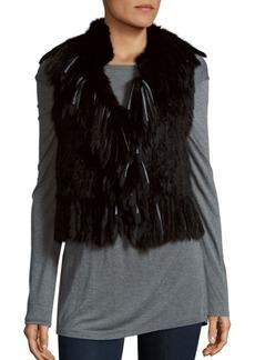 Haute Hippie Rabbit Fur Vest