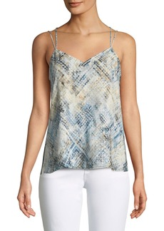 Haute Hippie Reflected Light Silk Cami Top with Open Sides