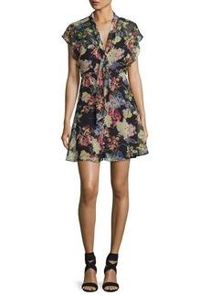 Haute Hippie Romeo Floral-Print Chiffon Dress