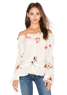 Haute Hippie Ruffle Collar Blouse