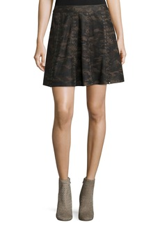 Haute Hippie Sagat Silk Mini Skirt W/ Grommets