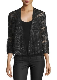Haute Hippie Semisheer Embellished Jacket