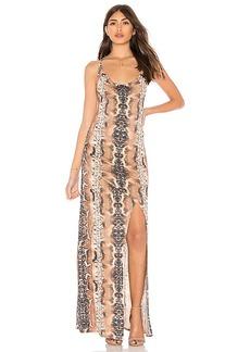 Haute Hippie Sidewinder Cowl Maxi Dress
