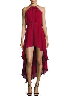 Haute Hippie Silk Asymmetric High-Low Dress