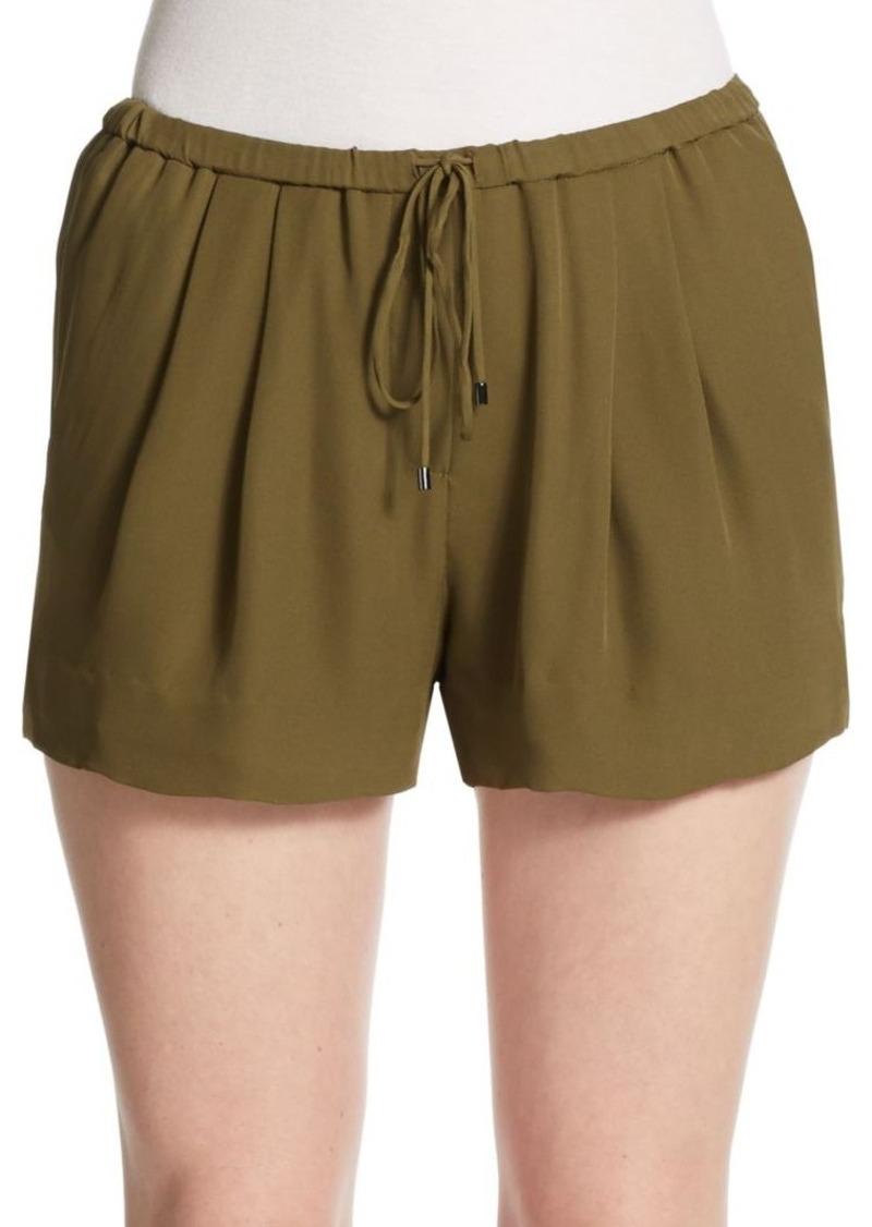 Haute Hippie Silk Drawstring Shorts