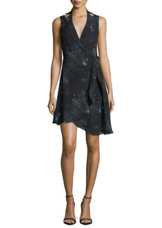 Haute Hippie Silk Paisley Blazer Dress w/ Asymmetric Hem