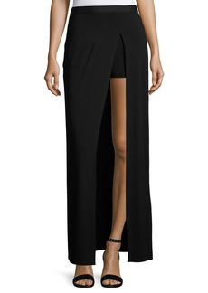 Haute Hippie Slayer Jersey Slit Maxi Skirt