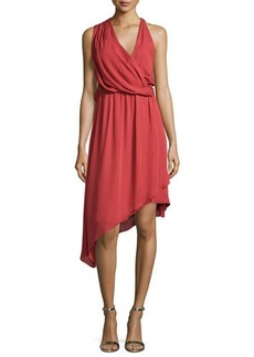 Haute Hippie Sleeveless Asymmetric Silk Dress