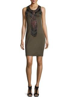 Haute Hippie Sleeveless Embellished Dress