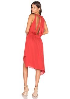 Haute Hippie Sleeveless Handkerchief Wrap Mini Dress