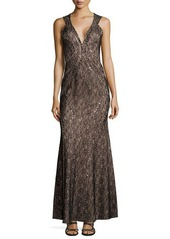 Haute Hippie Sleeveless Lace Studded Gown