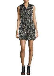Haute Hippie Sleeveless Silk Paisley Cargo Dress