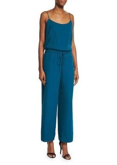 Haute Hippie Sleeveless Wide-Leg Cropped Jumpsuit