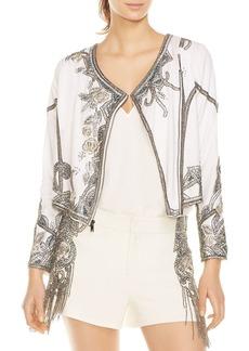 Haute Hippie Soleil Embellished Moto-Inspired Jacket