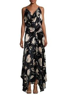 Haute Hippie Solitaire Burnout Velvet Maxi Dress