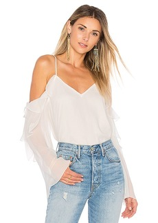 Haute Hippie Starshine Blouse in White. - size L (also in M,S,XS)