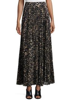 Haute Hippie Sunburst Flare Printed Maxi Skirt