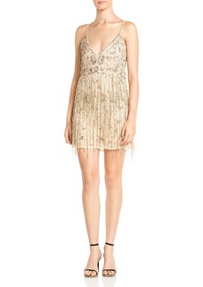 Haute Hippie Taken Embellished Mini Dress
