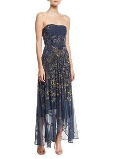 Haute Hippie Tango Strapless Illusion Gown