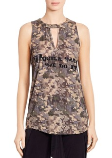 Haute Hippie Tequila Made Me Do It Printed Tank