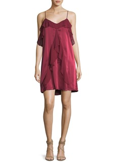 Haute Hippie The Bibi Ruffled Sleeveless Slip Cocktail Dress