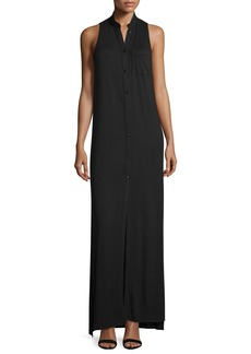 Haute Hippie The Cady Button-Front Voile Maxi Dress