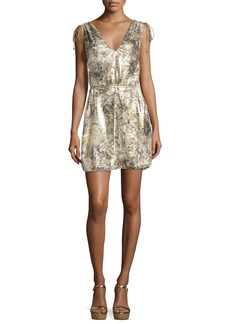 Haute Hippie The Follow Me Metallic Floral Dress