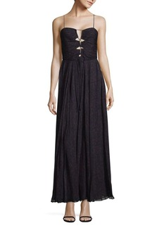 Haute Hippie The Gala Printed Raw-Silk Gown