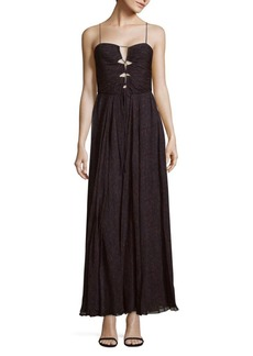 Haute Hippie The Gala Printed Raw-Silk Gown