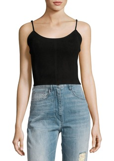 Haute Hippie The Jolene Cropped Suede Tank Top