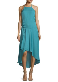 Haute Hippie The Marina Halter Sleeveless Silk Dress