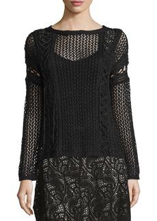 Haute Hippie The Slick Crochet Pullover Sweater