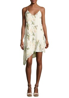 Haute Hippie The Waterfall Floral Silk Slip Dress
