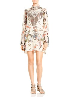 Haute Hippie Through The Looking Glass Embellished Silk Dress