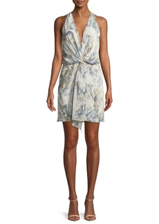 Haute Hippie Trails End Revive Printed Twist-Front Mini Dress