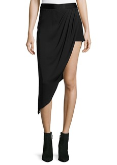 Haute Hippie Tux Slayer Asymmetric Silk Skirt