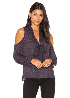 Haute Hippie Vida Cold Shoulder Blouse