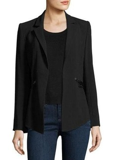 Haute Hippie We Will Meet Again Laced Crepe Blazer