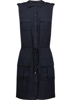 Haute Hippie Woman Button-detailed Crepe De Chine Mini Dress Midnight Blue