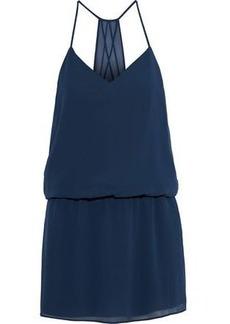 Haute Hippie Woman Chiffon Mini Dress Indigo