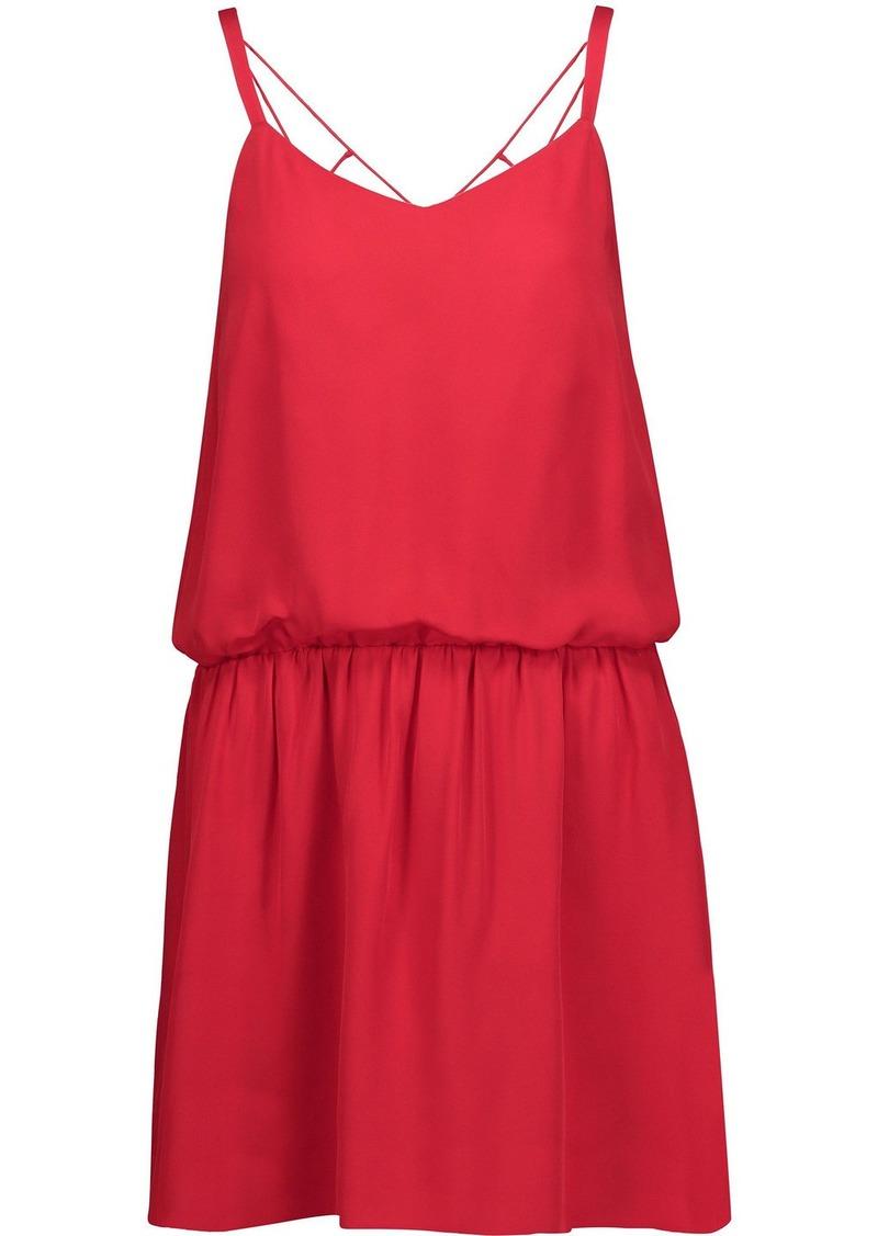 Haute Hippie Woman Exit Strategy Cutout Silk-georgette Mini Dress Red