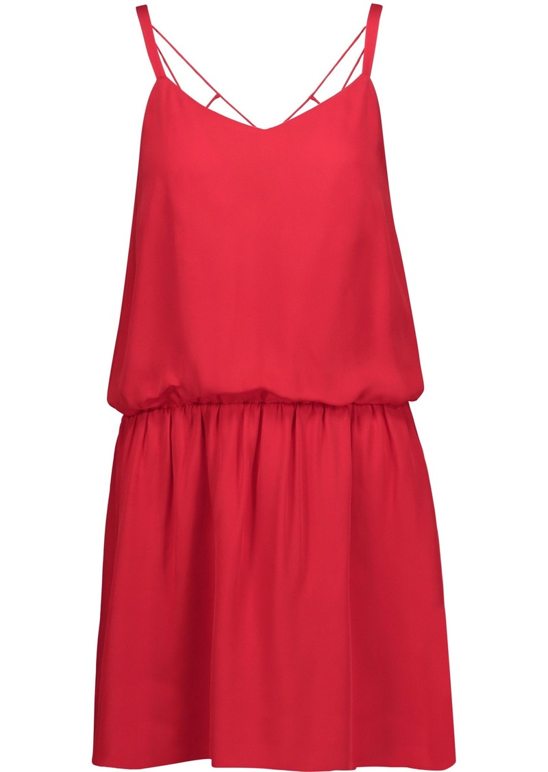 Haute Hippie Woman Exit Strategy Cutout Silk-georgette Mini Dress Red