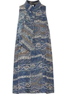 Haute Hippie Woman Flotus Tie-neck Printed Silk-jacquard Mini Dress Azure