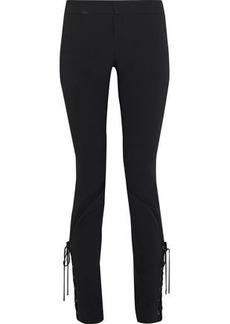 Haute Hippie Woman Lace-up Crepe Slim-fit Pants Black