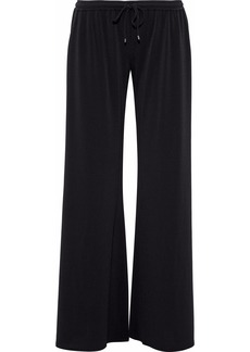 Haute Hippie Woman Stretch-crepe Wide-leg Pants Black