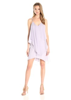 Haute Hippie Women's Asymmetrical Ruffle Tank Dress  L